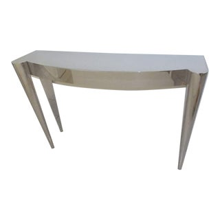 Contemporary John Lyle & Umbach Polished Stainless Steel Butler Console Table For Sale
