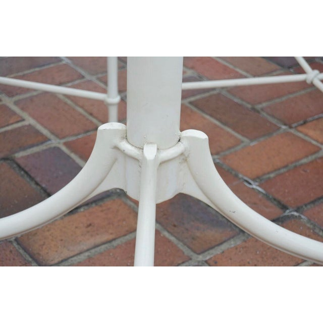 Glass Vintage Brown Jordan Outdoor Cast Metal Patio Table and Chairs For Sale - Image 7 of 13