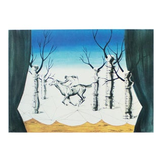 "1972 Rene Magritte, ""The Lost Jockey"" Original Photogravure For Sale"