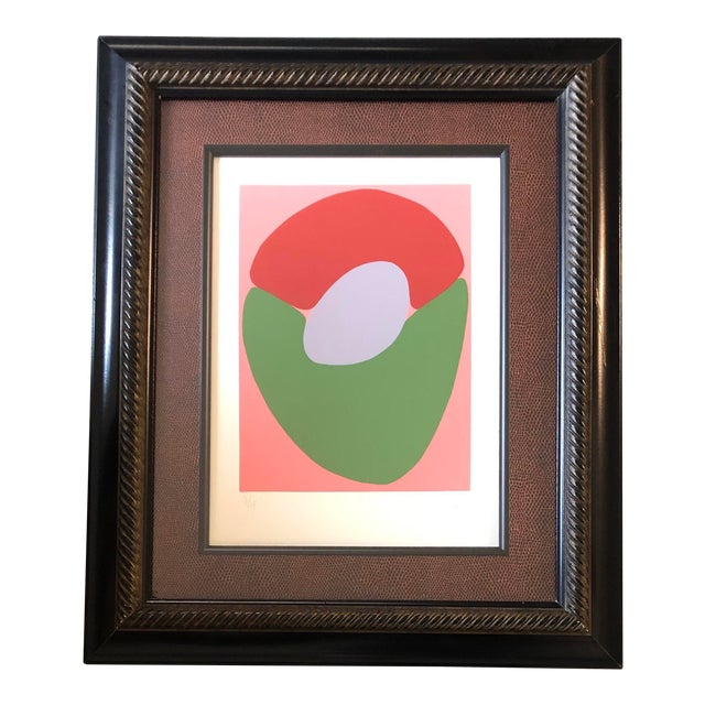 Original Robert Cooke Abstract Lithograph Mid Century 1970's Signed For Sale