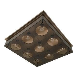 Modern Lucite Flush Light