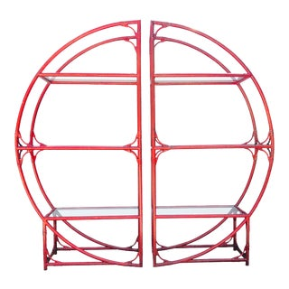 Vintage Faux Bamboo Chinoiserie Eterge