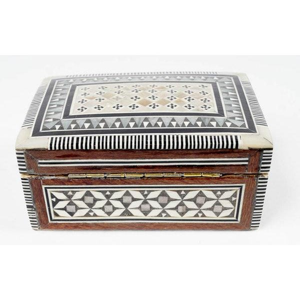Inlaid Wood Jewelry Boxes - A Pair For Sale In New York - Image 6 of 6