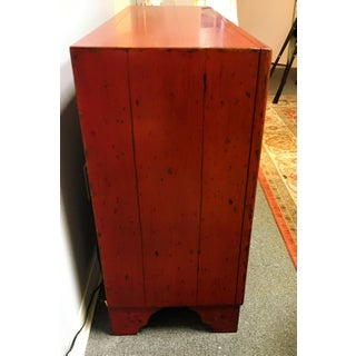 Vintage Red Apothecary Style Credenza Preview