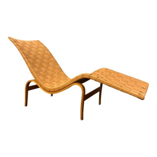Bruno Mathsson Chaise Lounge Chair With Two Original Labels For Sale