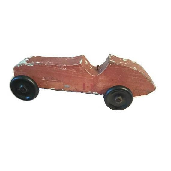Handmade Race Car Pull Toy - Image 2 of 8