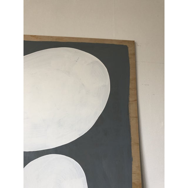 Grey and White Oversized Abstract Acrylic Diptych For Sale In Los Angeles - Image 6 of 10