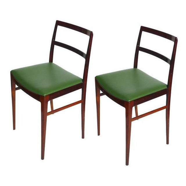 Brazilian Rosewood Stools - A Pair - Image 1 of 2