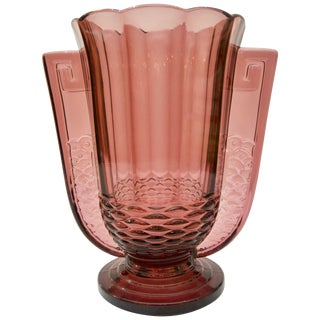 Art Deco Amethyst Vase by Val Saint Lambert For Sale