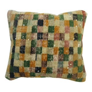 Turkish Checkerboard Rug Pillow