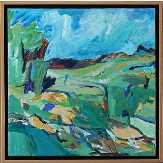 """Laurie MacMillan """"Hinterland"""" Abstract Landscape For Sale"""