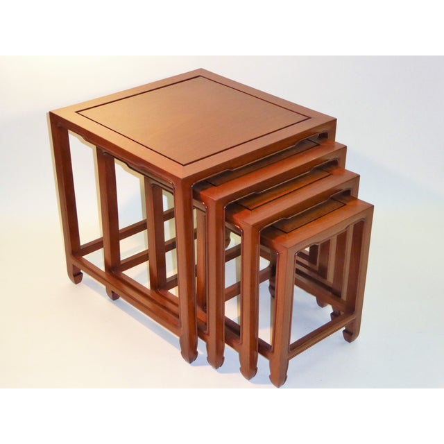..REDUCED FROM $2450..This richly appointed set of tables is in the style & quality of Baker's Far East Collection. In...