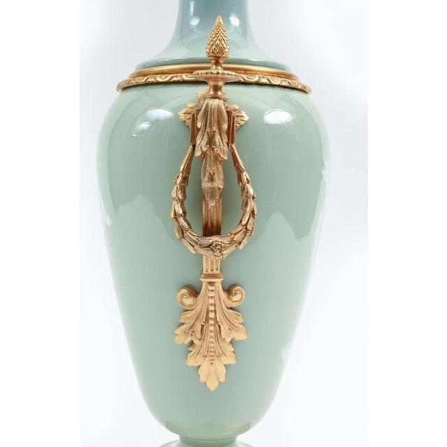 Bronze Mounted Porcelain Decorative Urn For Sale - Image 4 of 11