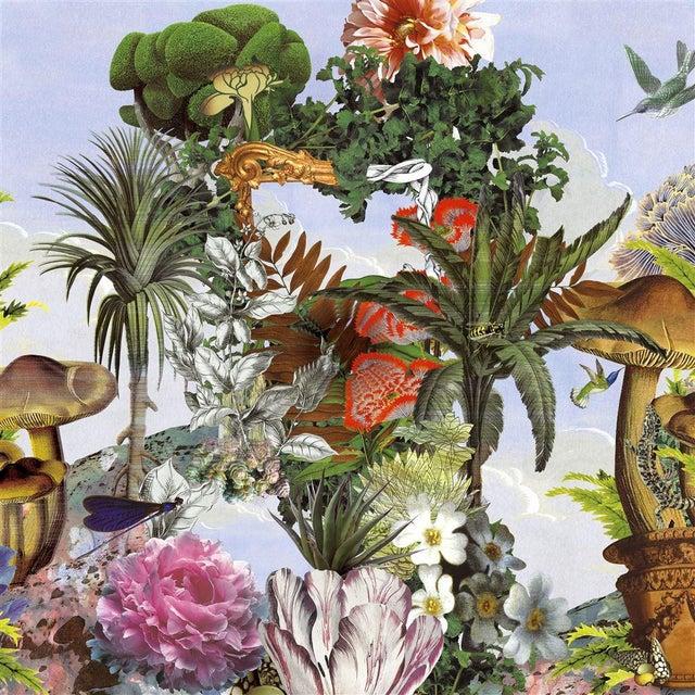 Christian Lacroix Christian Lacroix Jardin Des Reves Panoramic Prisme Wallpaper Sample For Sale - Image 4 of 6