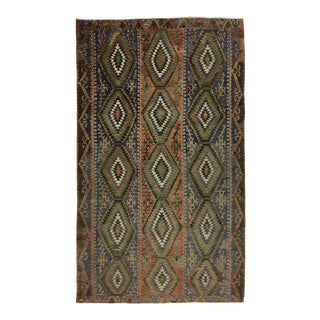 Rustic Vintage Turkish Kilim | 5'4 X 9'1 For Sale