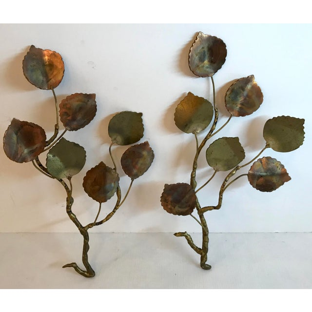 Vintage Jere Style Metal Leaf Wall Art - Set of 2 For Sale In Dallas - Image 6 of 6
