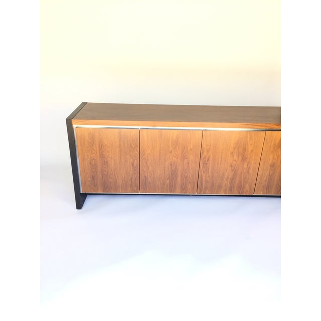 Milo Baughman for Dillingham Walnut Credenza - Image 6 of 6