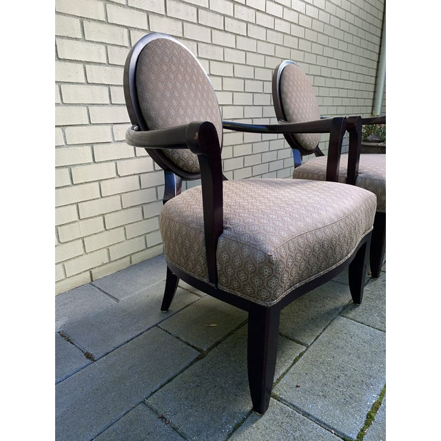 1990s Barbara Barry Baker Chairs - a Pair For Sale - Image 5 of 8