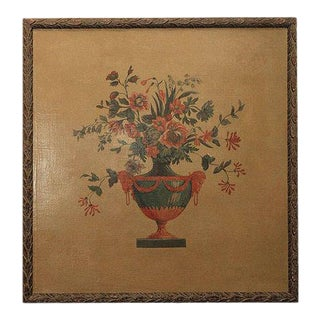 Mid 20th Century Louis XVI Style Floral Still Life Oil Painting, Framed For Sale