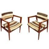Image of Pair of Mid-20th Century Danish Armchairs For Sale
