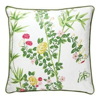 Jardin De Chine Pillow in Green For Sale