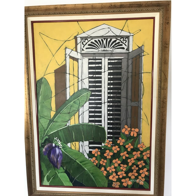 """Contemporary Original """"Ventana Amarilla"""" Oil Painting By Jorge Silvestre For Sale - Image 3 of 8"""