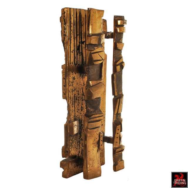 1950s Bronze Brutalist Abstract Sculpture For Sale - Image 5 of 13