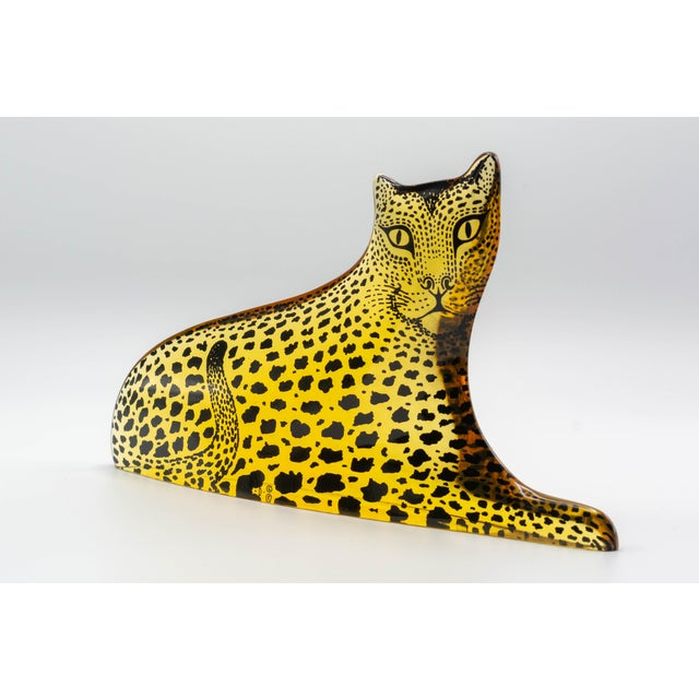 Abraham Palatnik Op Art Palatnik Lucite Leopard Sculpture For Sale - Image 4 of 7