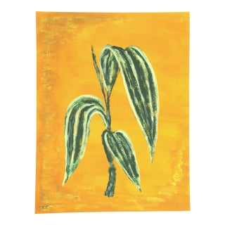 Contemporary Tropical Foliage Botanical Painting by Cleo Plowden For Sale