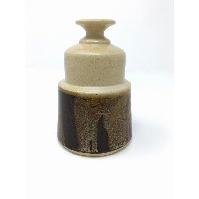 Mid-Century Modern Vintage Mid-Century Ceramic Earth Tone Vase For Sale - Image 3 of 11