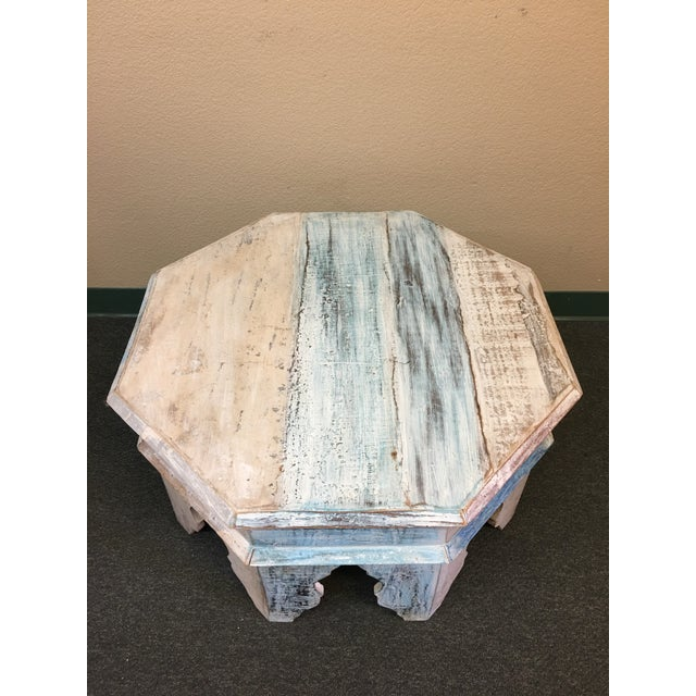 Sunrise Home Custom Wash Moroccan Style Octagonal Side Table - Image 3 of 8