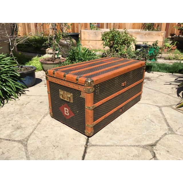 1930s Traditional Goyard Steamer Trunk For Sale - Image 11 of 13