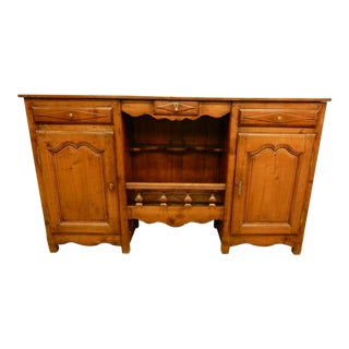 Narrow Early 19th C French Provincial Sideboard