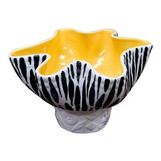 Beswick Mid-Century Zebra Stripe Planter Pottery Bowl