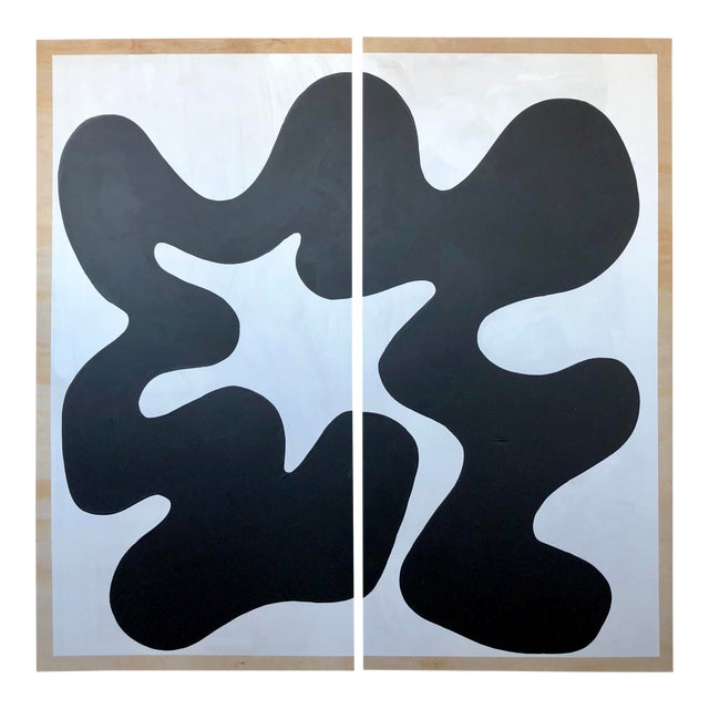 Black and White Diptych 1 For Sale