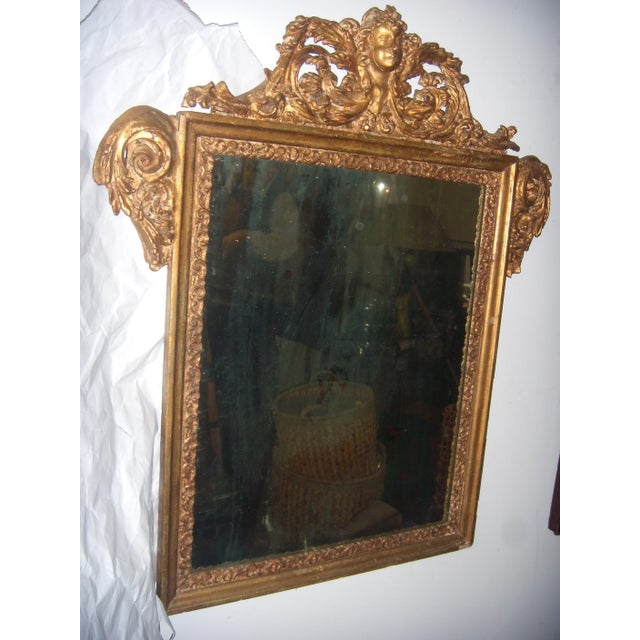 Antique Italian Gilt Cherub Mirror - Image 4 of 12