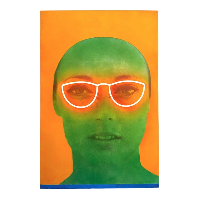 "Martial Raysee Moderna Museet Stockholm Lithograph Print Pop Art Poster "" France Verte "" 1964 For Sale"