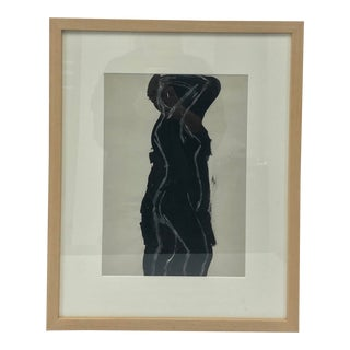 Black and White Study of a Nude Figure in a Birch Frame For Sale