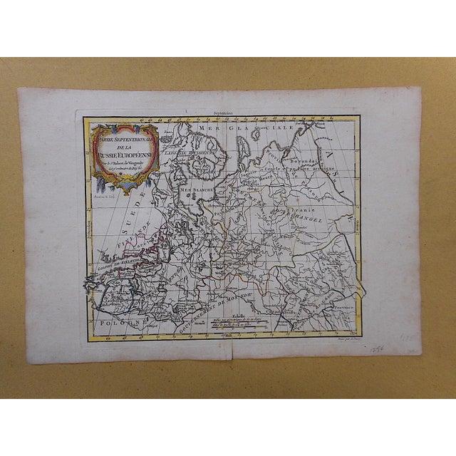 Illustration 18th C. Antique Map -France-Poitou, Aunis...Auvergne For Sale - Image 3 of 3