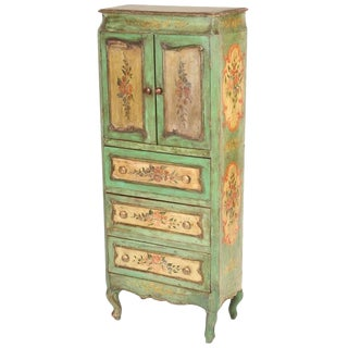 19th Century Louis XV Style Painted Cabinet For Sale