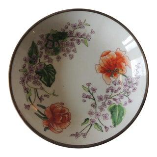 Vintage Imari Japanese Green and Orange Decorative Plate For Sale