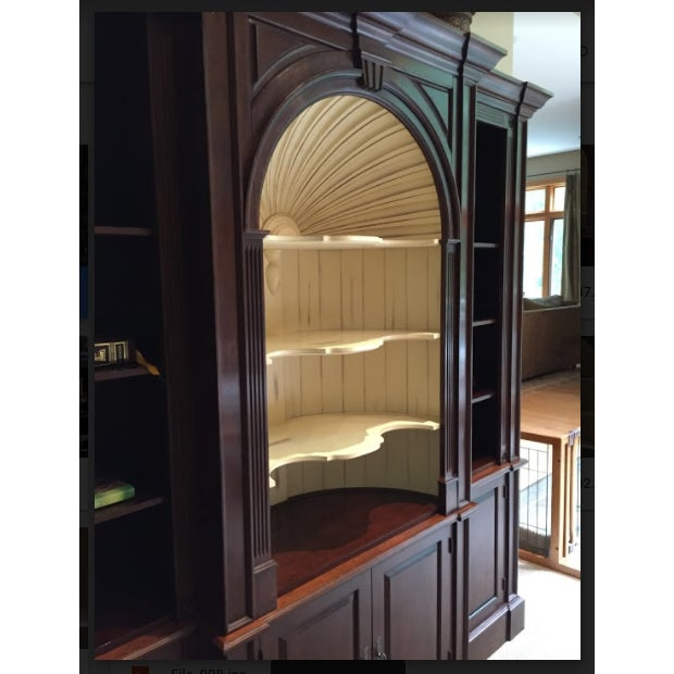 American Classical Harden Goddard Solid Cherry Library Cabinet For Sale - Image 3 of 7
