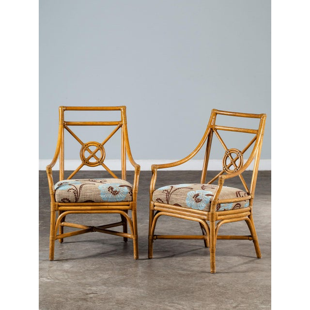 1970s Vintage McGuire Bamboo Target Design Chairs - a Pair For Sale - Image 13 of 13