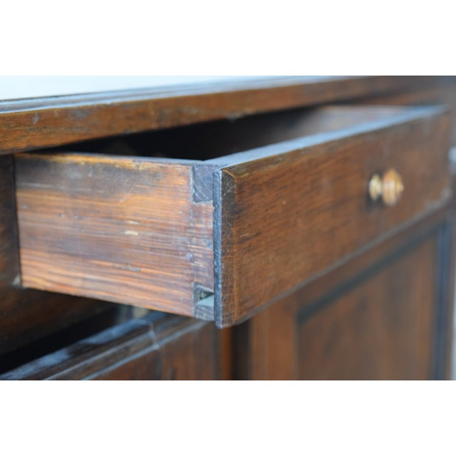 Late 18th Century 18th Century Antique French Provincial Oak Buffet For Sale - Image 5 of 9