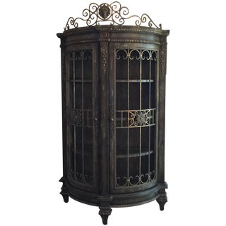 Victorian Style Painted Curio Cabinet
