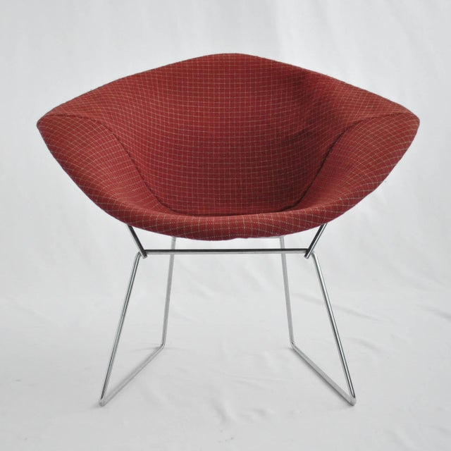 Harry Bertoia Diamond Dining Chair With Cover - Image 4 of 6