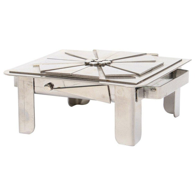 Stanley Szwarc Sculptural Stainless Steel Hinged Box For Sale - Image 11 of 11