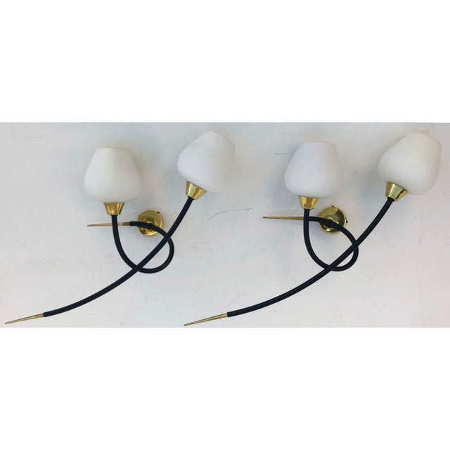 Metal Maison Arlus Sconces - a Pair For Sale - Image 7 of 7