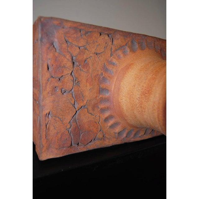 Ceramic Wishon-Harrell Brutalist Ceramic Lamp For Sale - Image 7 of 7
