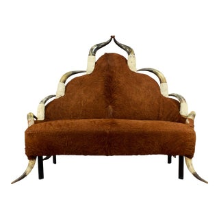 Antique Horn Sofa Ca. 1870 For Sale